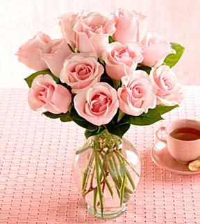 دسته گل رز صورتی رنگ